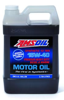 AMSOIL 15W-40 high zinc cj4 synthetic diesel oil