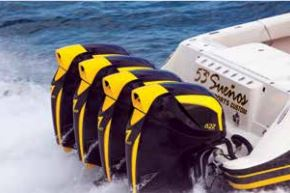monster outboards use AMSOIL