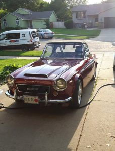 Datsun 2000 just got a bath - now for wiring!
