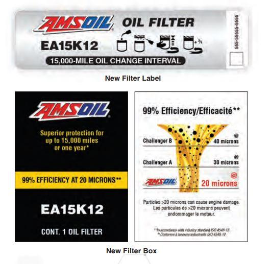 AMSOILs new improved oil filter data