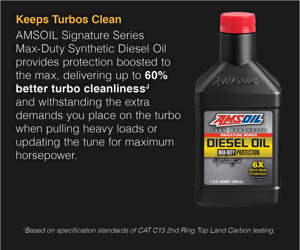 When you push the Turbo in your diesel, we'll provide the extra protection.