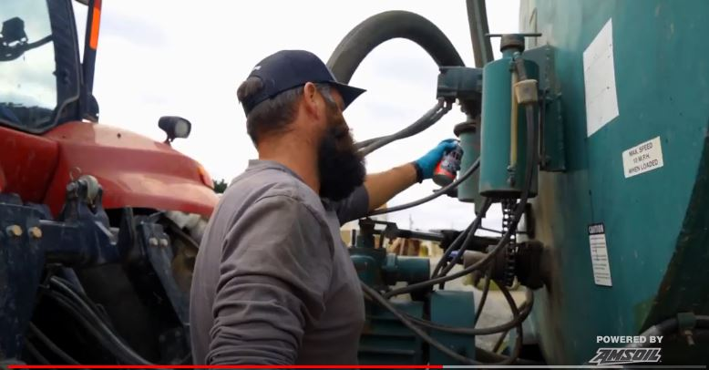uses amsoil products to reduce expenses on farm